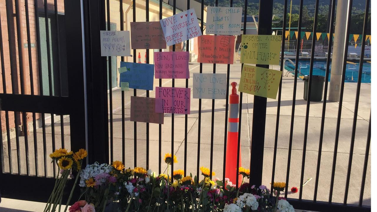 A memorial grows for San Ramon Valley High School student Ben Curry, who was found unresponsive in the schools pool, and was later pronounced dead.