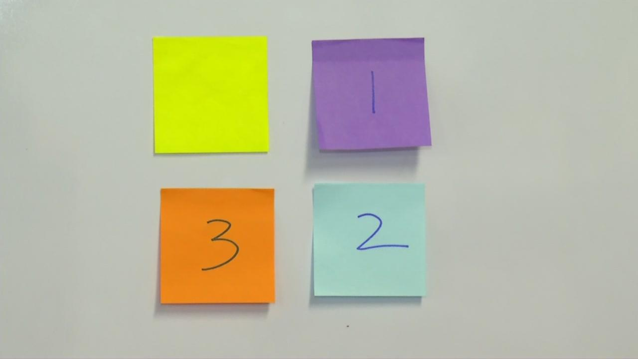 ABC7 News Anchor Kristen Sze explains ranked choice voting using sticky notes.
