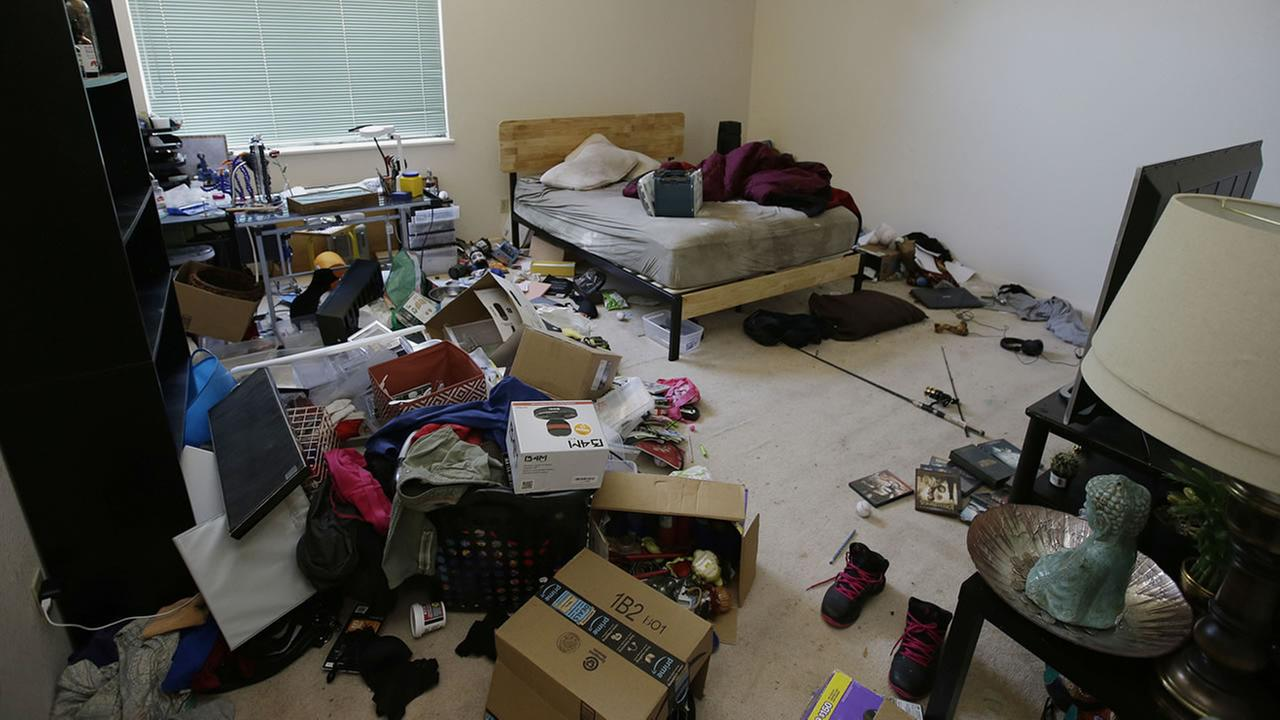 Toys and other items are strewn around one of the bedrooms of a home in Fairfield, Calif., Monday, May 14, 2018, where authorities removed 10 children and charged their father with torture and their mother with neglect.