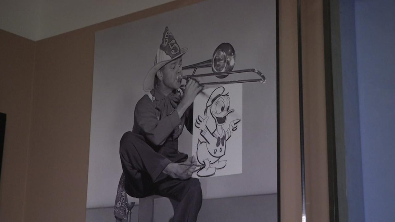 A photo of an animator is on display at the Walt Disney Family Museums newest exhibit.