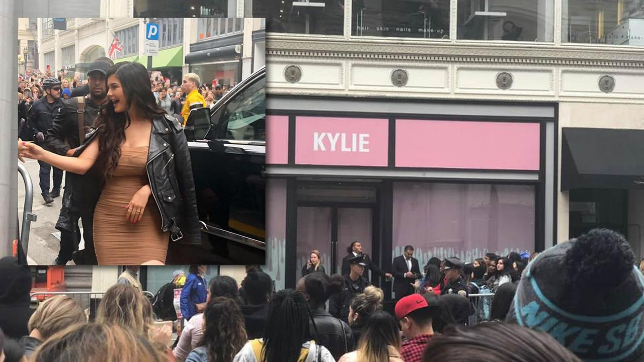 Kylie Jenner visits her pop-up shop in San Francisco, Calif. on Friday, May 18, 2018.