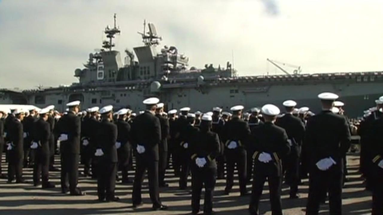 USS America commissioned during Fleet Week in San Francisco.