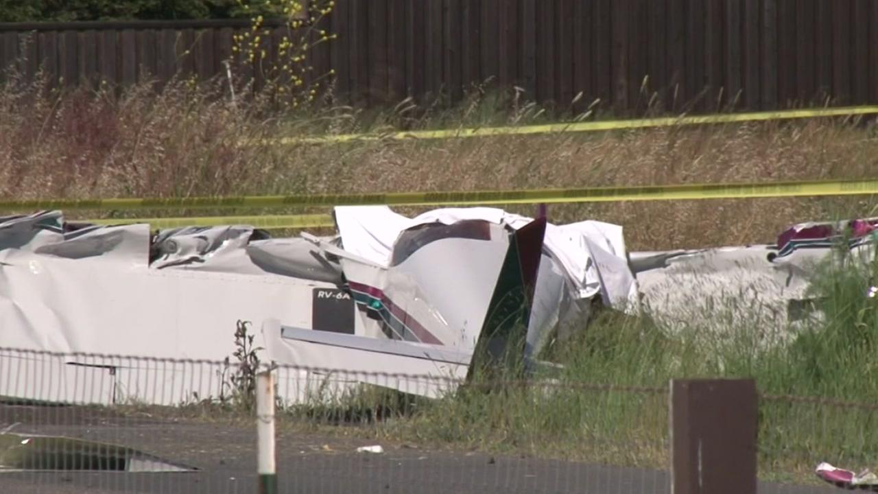Two people were killed in a small plane crash in Petaluma, Calif. on Sunday, May 27, 2018.