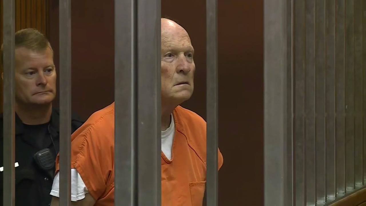 Golden State Killer suspect Joseph James DeAngelo in court on Tuesday, May 29, 2018.