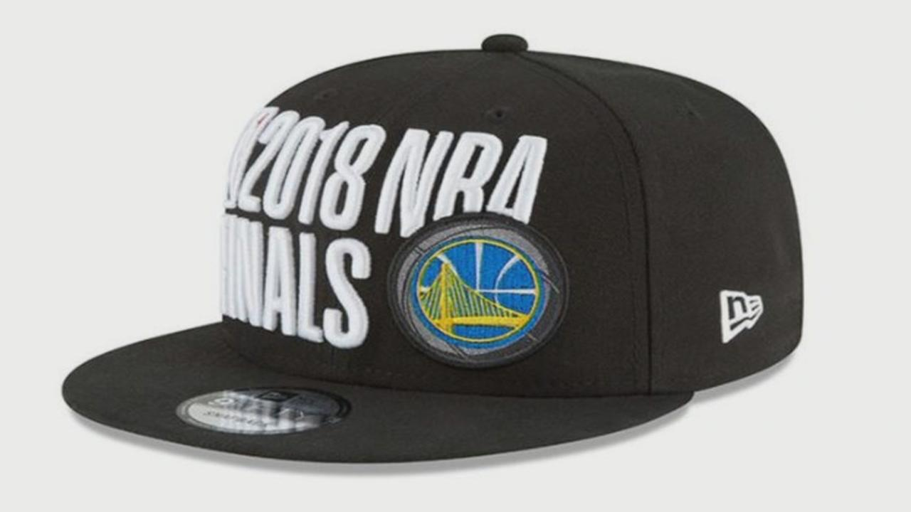 This is an undated image of the 2018 NBA Finals hat.