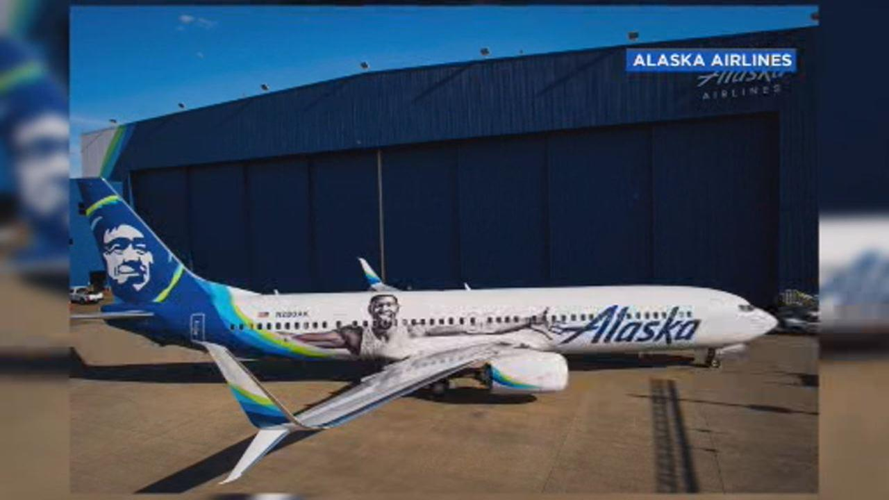 Alaska Airlines unveils official Kevin Durant plane for NBA finals