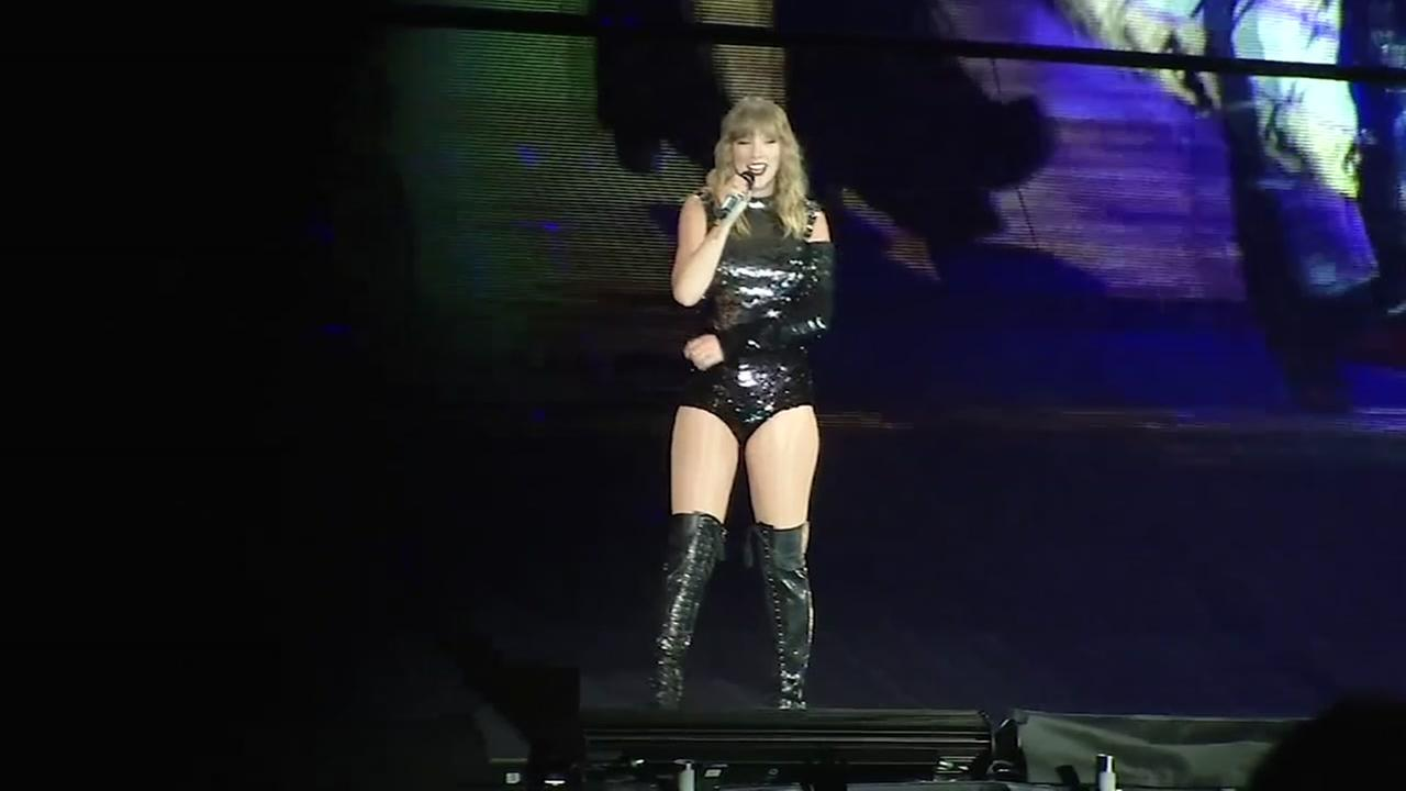 Taylor Swift performs at a concert in this file photo.