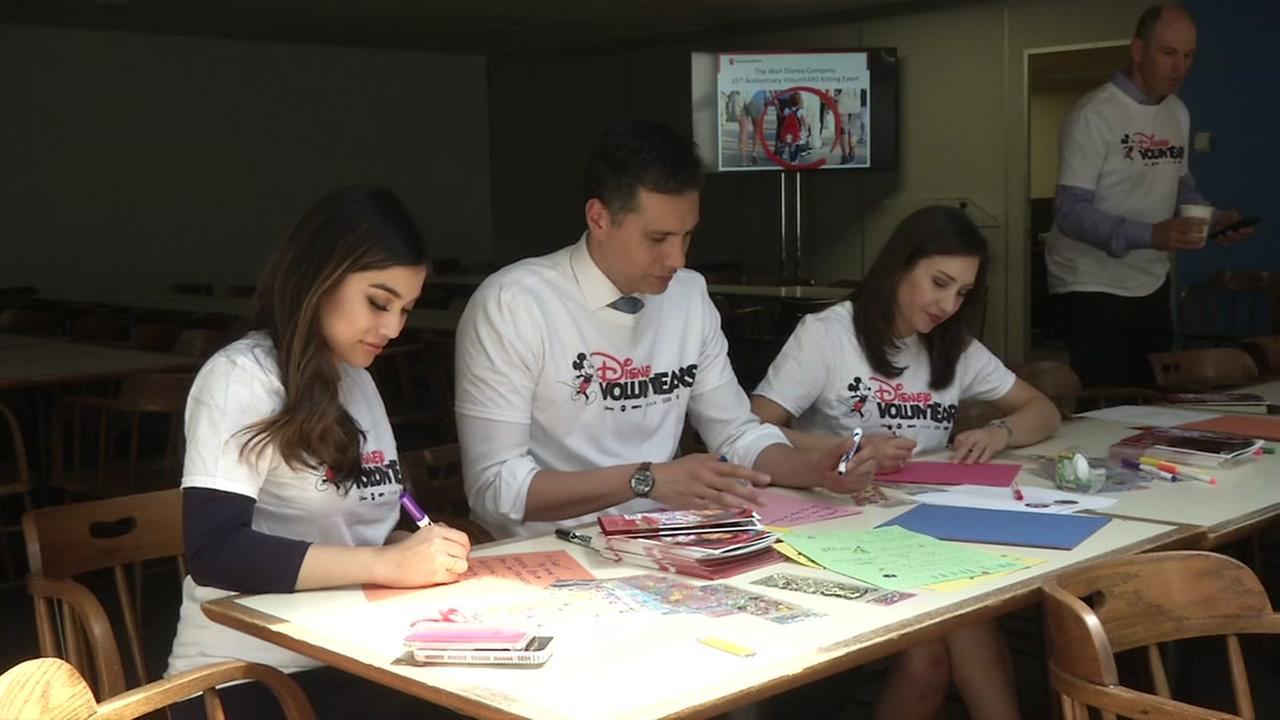 ABC7s Natasha Zouves, Reggie Aqui, and Jessica Castro volunteer for Save the Children on Thursday, June 7, 2018.