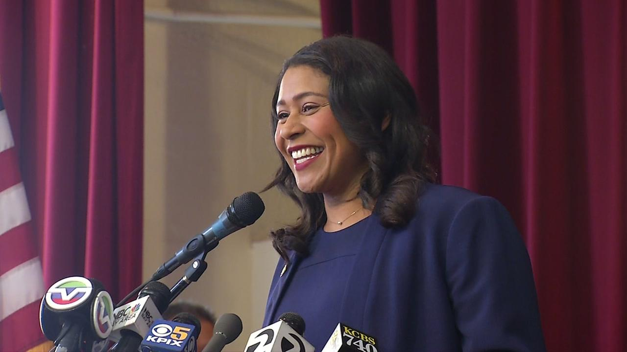 London Breed smiles at an event in San Francisco on Thursday, June 14, 2018.