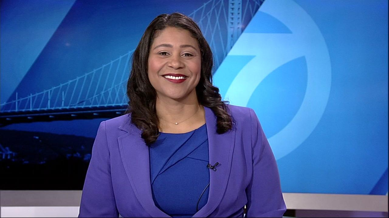 London Breed smiles during an interview with Carolyn Tyler on ABC7 News, Sunday, June 17, 2018.