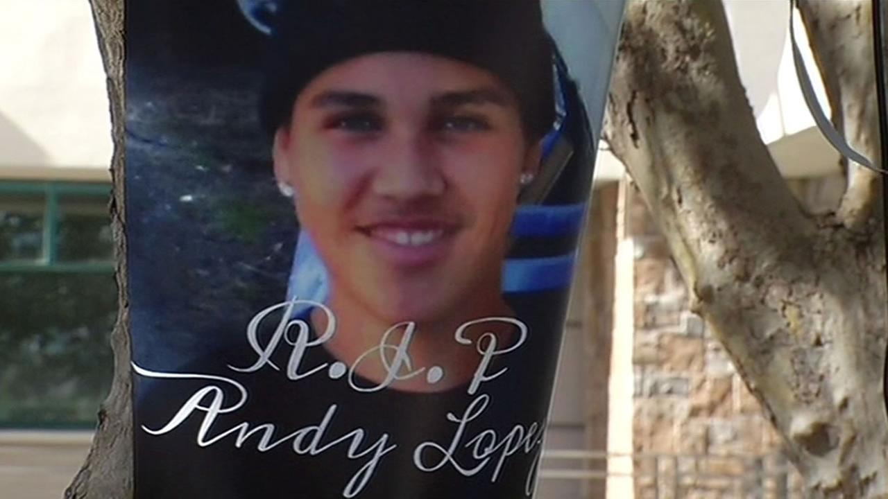 Family, friends remember the one year anniversary since Andy Lopez was shot holding an airsoft pellet gun.