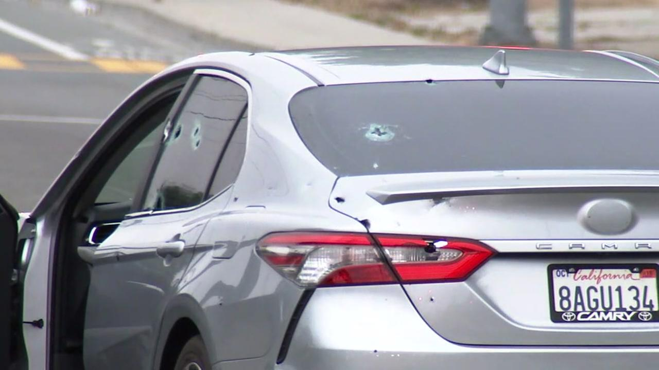 Car with bullet holes in Union City, California on Tuesday, June 19, 2018.