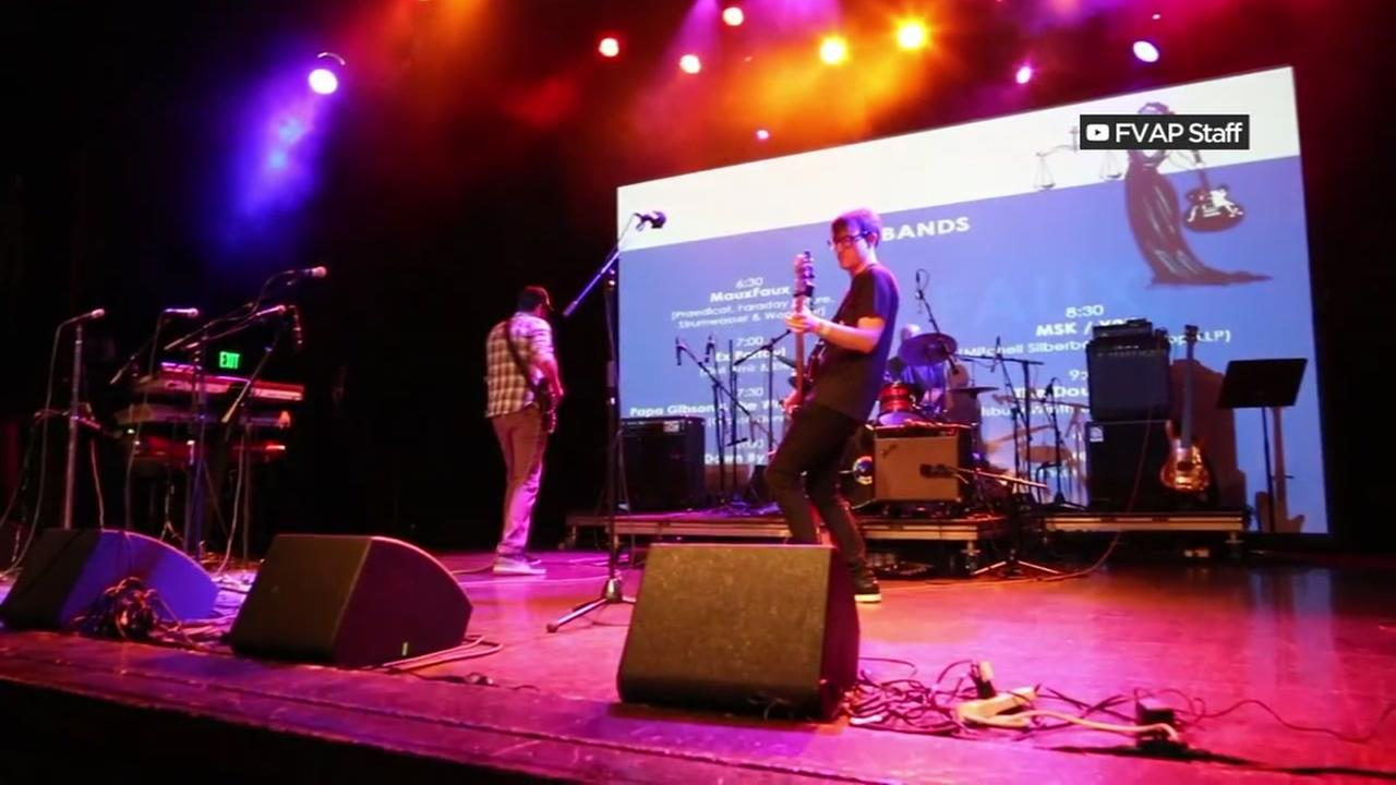 A band performs during Banding Together to End Domestic Violence in San Francisco in 2017.