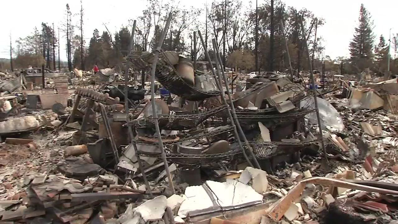 Debris from the North Bay firestorm is pictured.