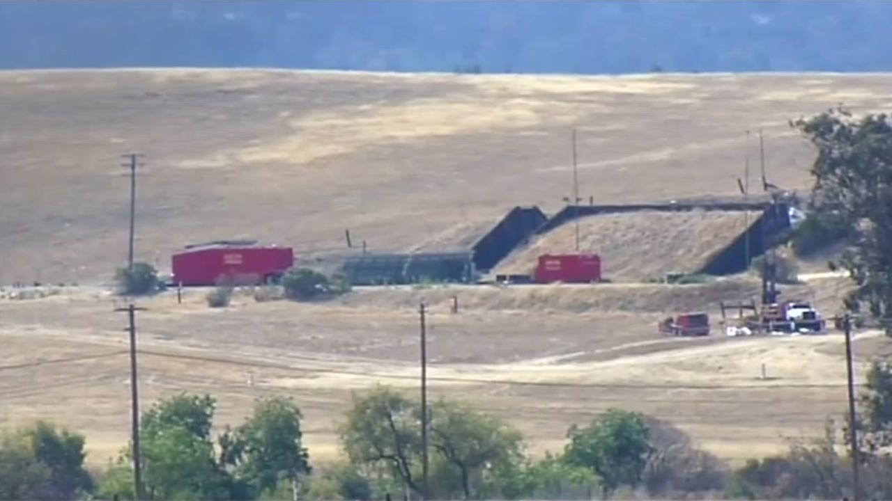The potential site for a detention camp in Concord, Calif. appears on Friday, June 22, 2018.