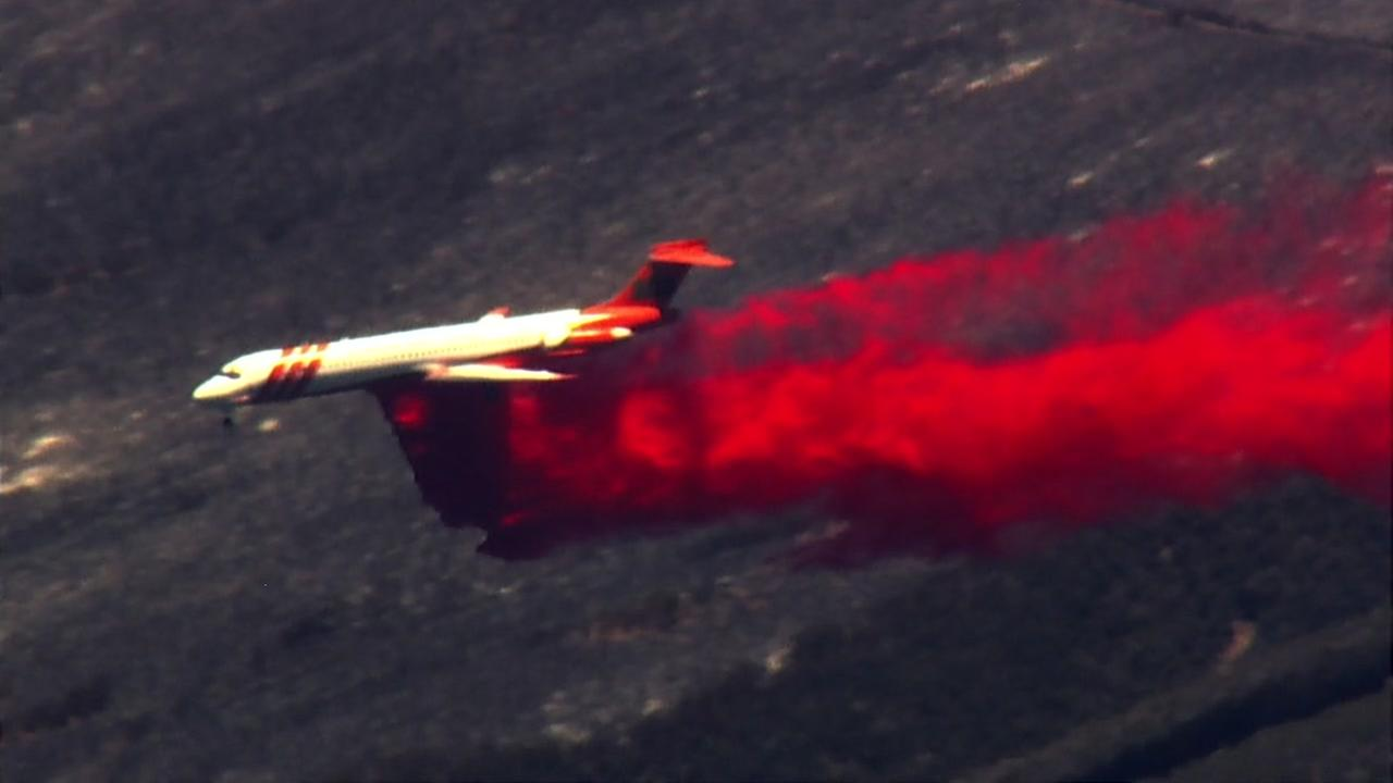 SKY7 was over the Pawnee Fire burning in Lake County, Calif. on Monday, June 25, 2018.