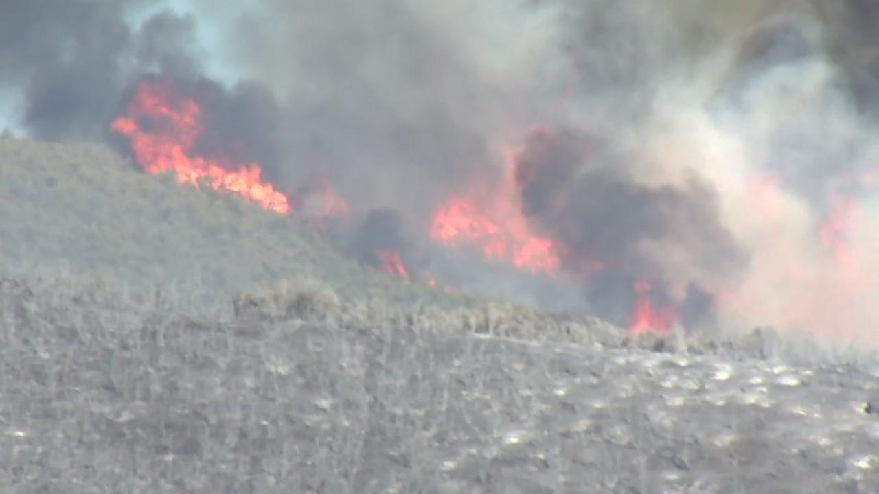 The Pawnee fire burns in Lake County, Calif. on Monday, June 25, 2018.