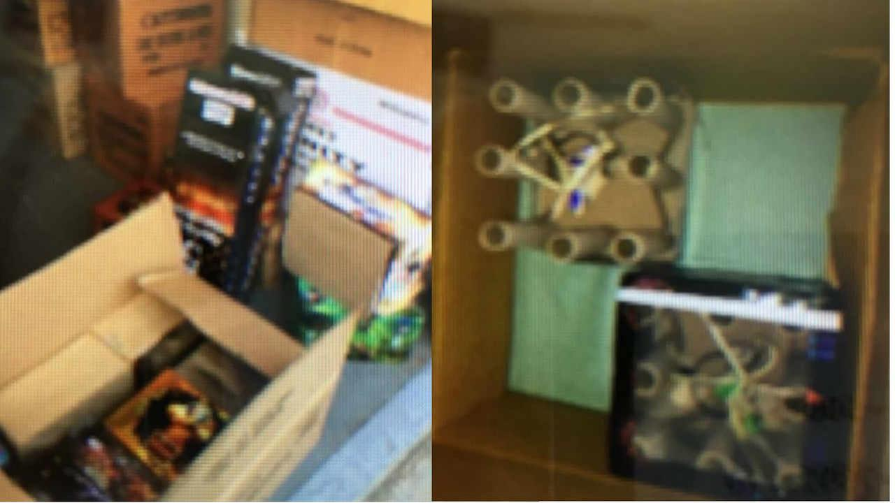 Fireworks found by the Oakland Police Department are seen in this undated image.