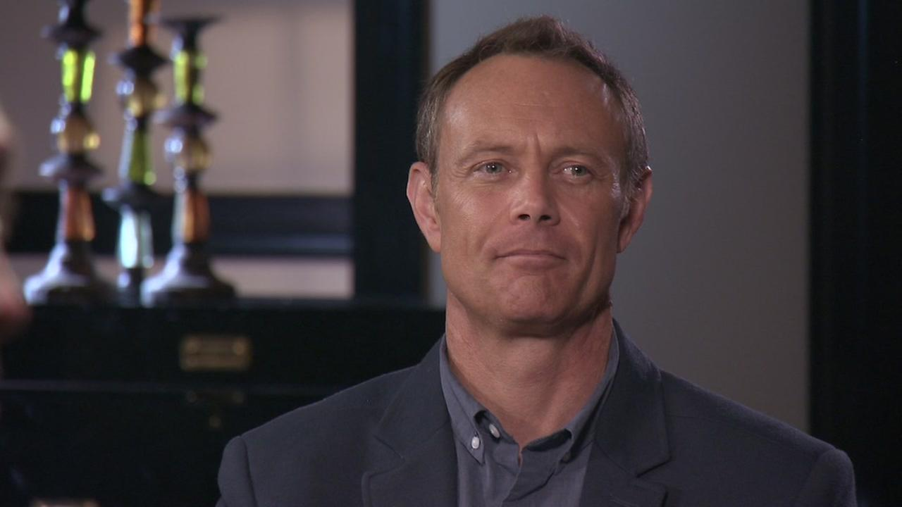 Paul Holes appears in an interview with ABC in this undated image.