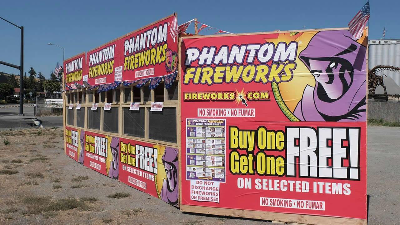A fireworks stand is seen in Sonoma County, Calif. on Friday, June 29, 2018.