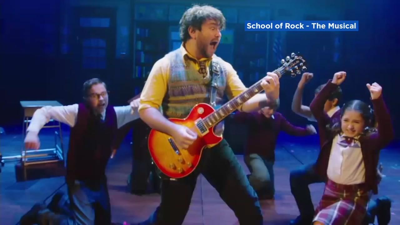 This still image shows the musical School of Rock, playing at the SHN Orpheum.