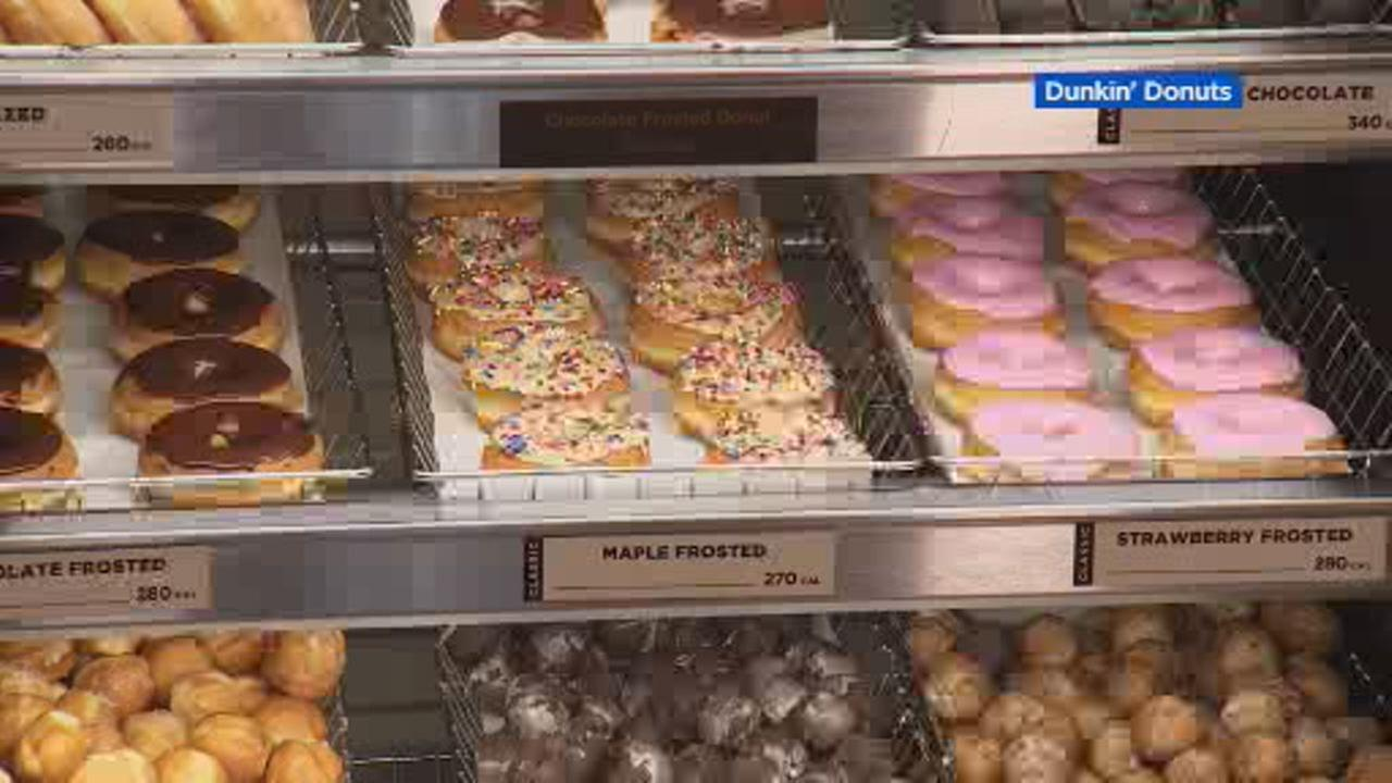This undated image shows a box of Dunkin Donuts. A new store is set to open in San Jose on July 5, 2018.