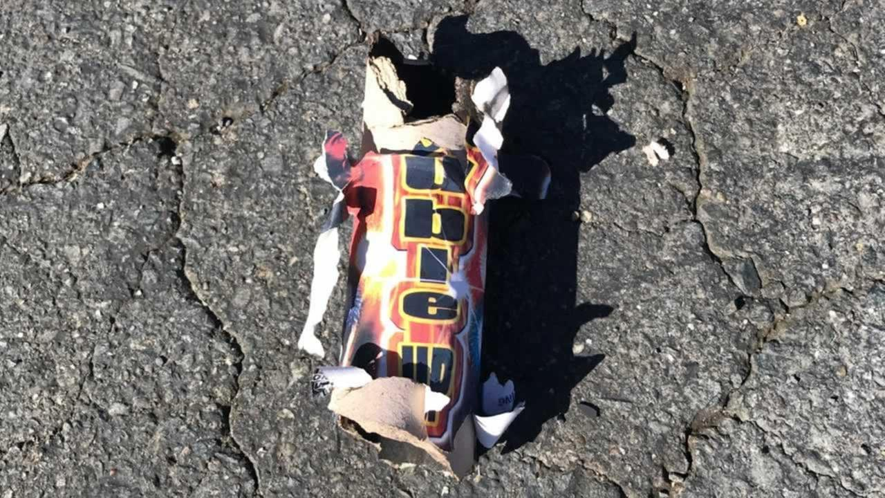 The spent firework was found outside Gumaros Auto Repair in Antioch, Calif. on Thursday, July 5, 2018.