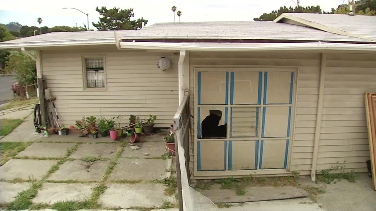 The house in Richmond, Calif., that a man allegedly tried to break into is seen on July 6, 2018.