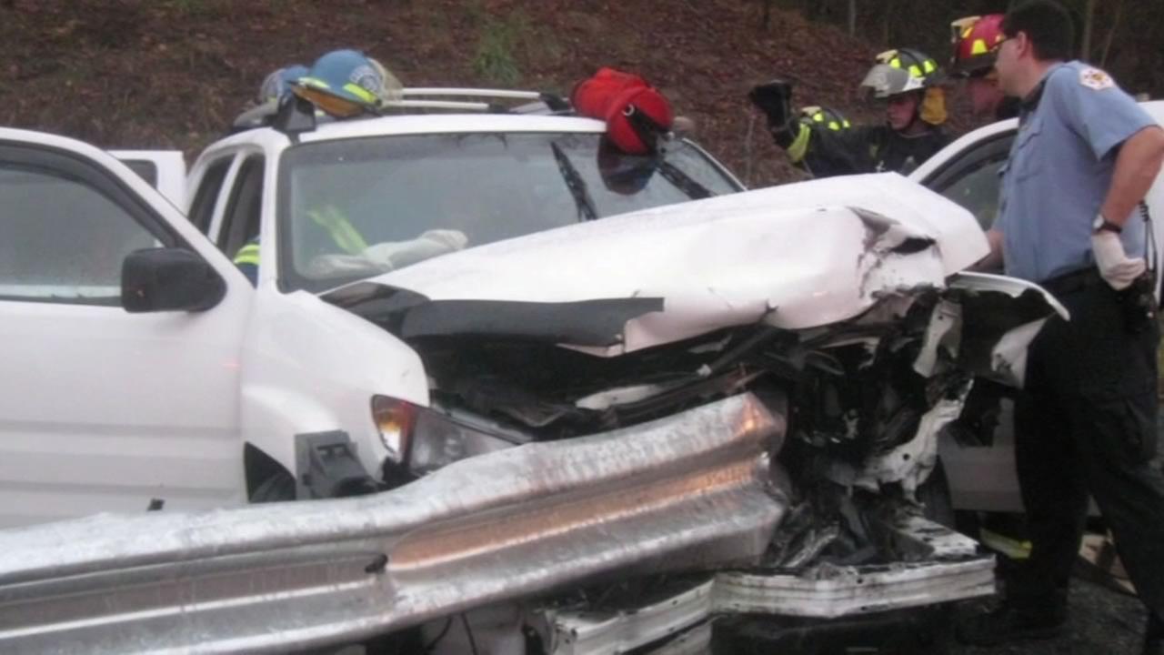 Crash involving a Trinity Industries guardrail.
