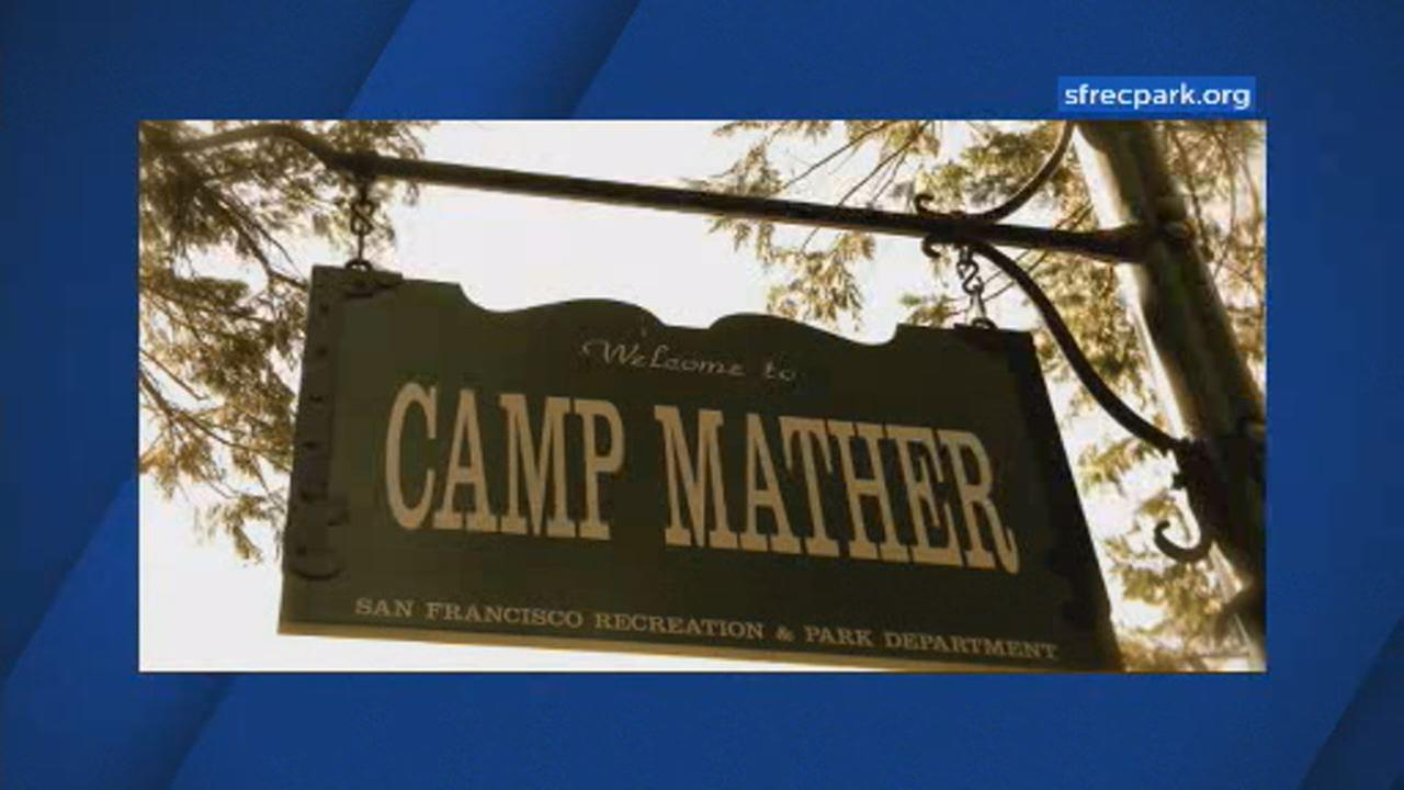 This undated image shows a sign of San Franciscos Camp Mather near Yosemite National Park.