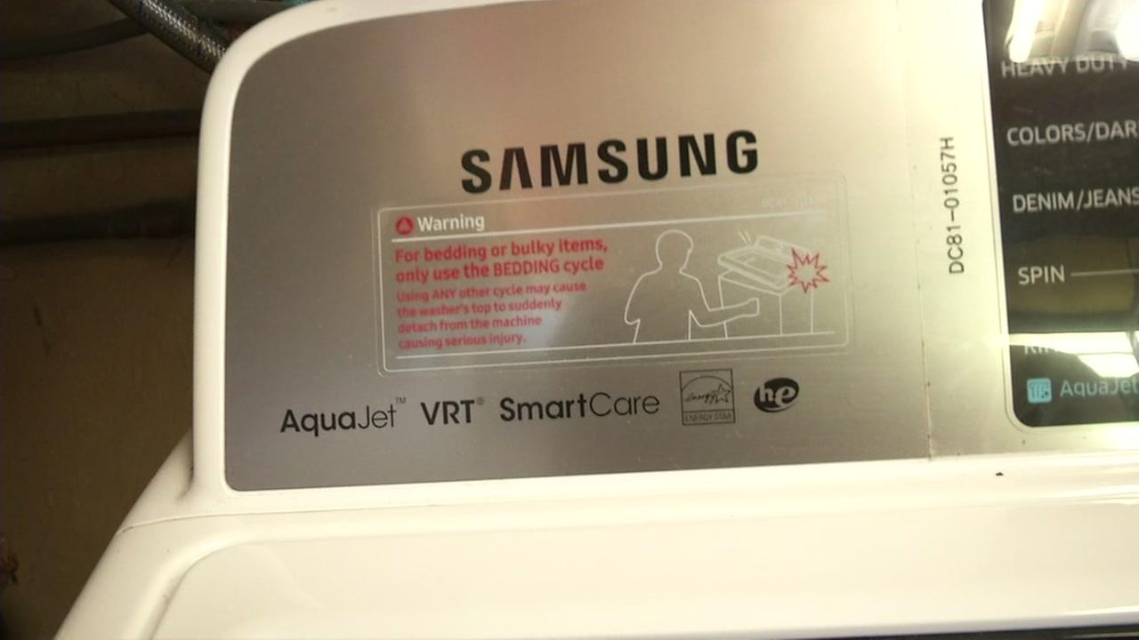 A Samsung washing machine is seen in this undated image.