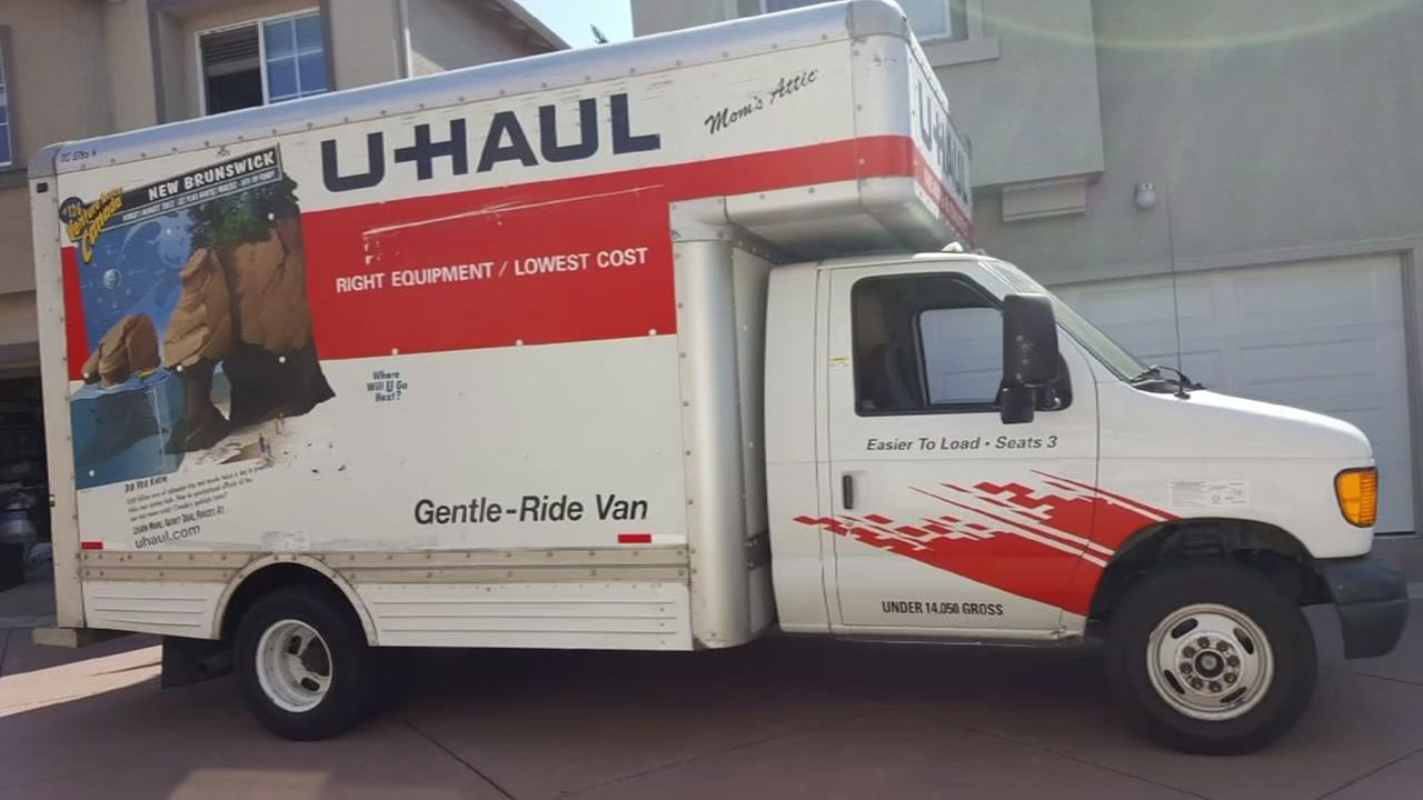 A U-Haul truck appears in this undated image before it was stolen from a Santa Clara, Calif. family.