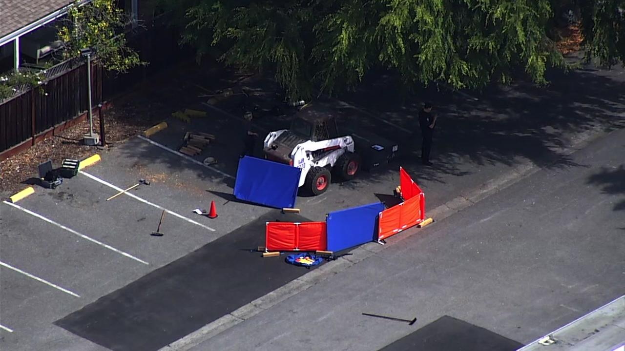 Deadly accident at parking lot of preschool in Palo Alto, California on Thursday, July 12, 2018.