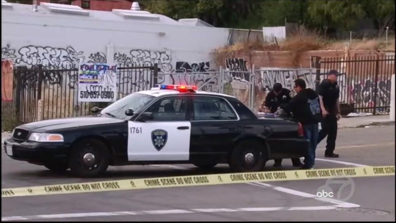 Shooting scene in Oakland, California on Thursday, July 12, 2018.