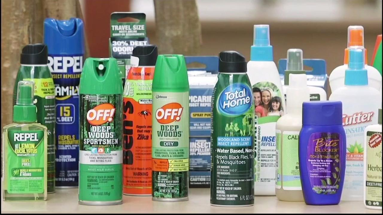 An array of bug spray options on display in this undated file photo.