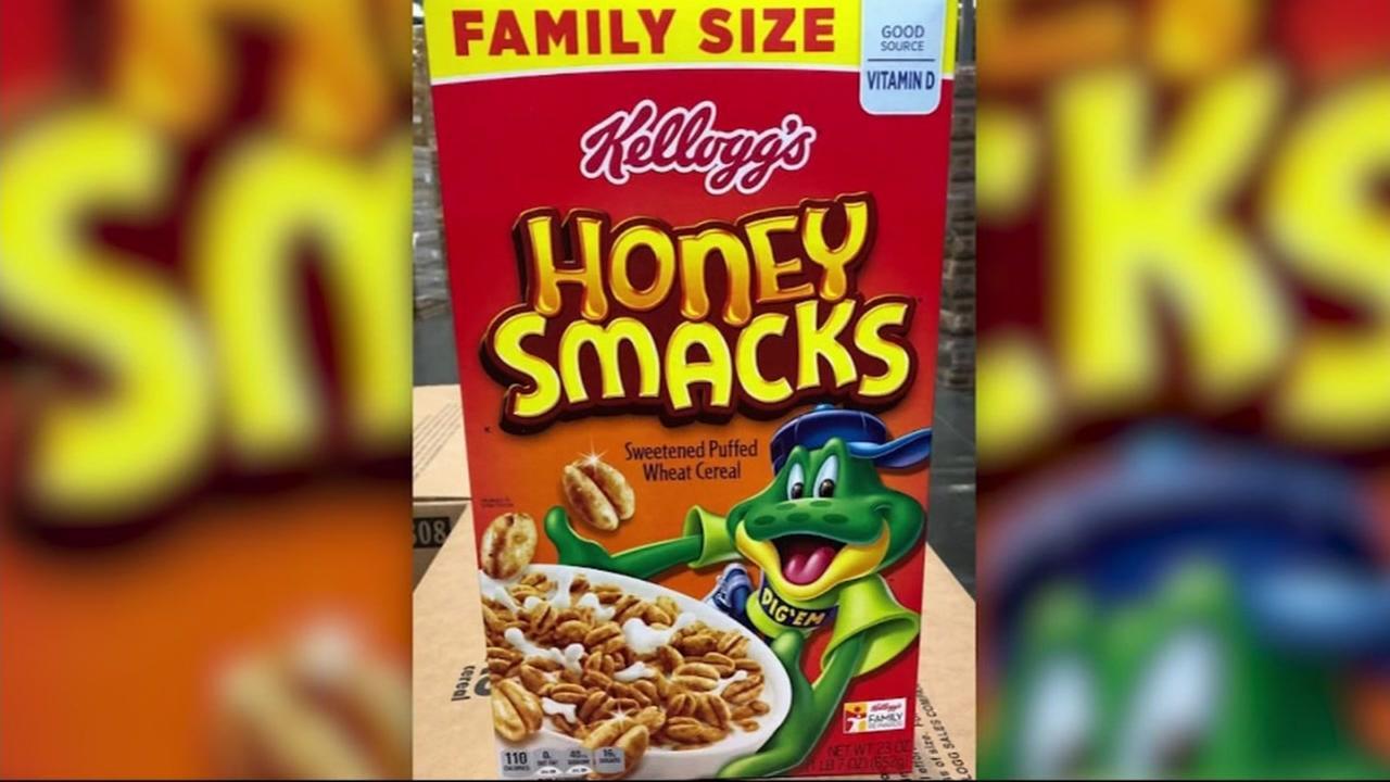 Kelloggs Honey Smacks cereal.