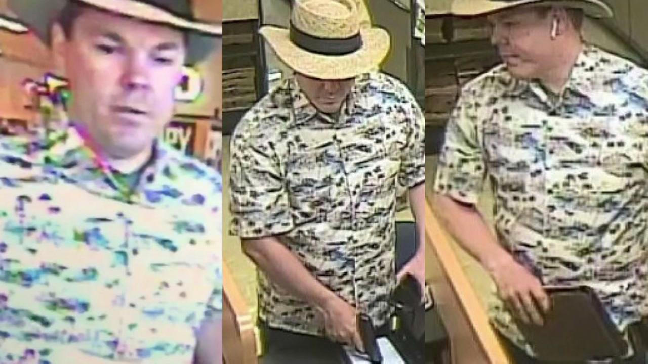 Suspect in serial bank robberies across California.