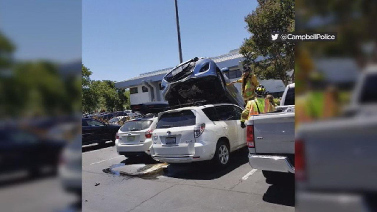 Car accident in Campbell, California on Thursday, July 12, 2018.