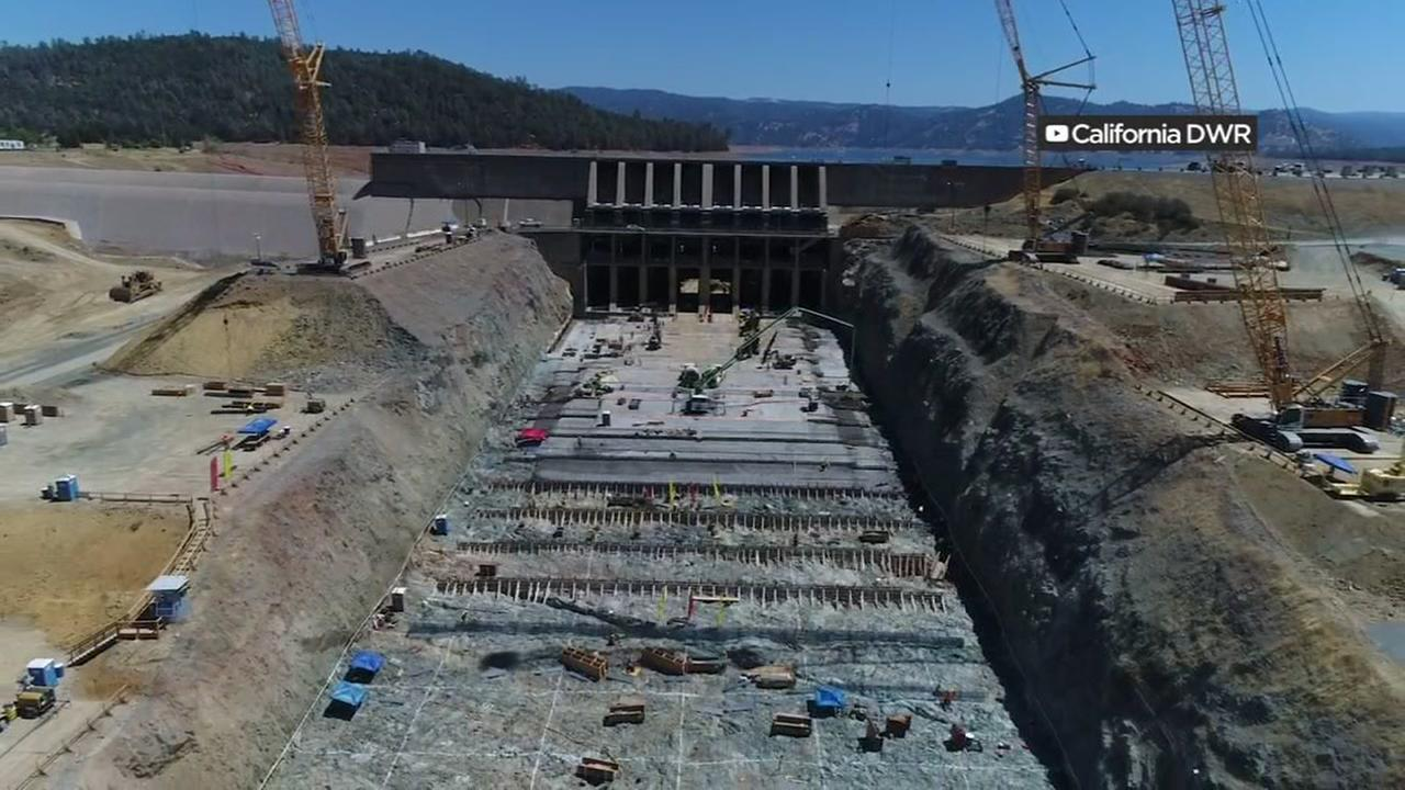 The Oroville Dam appears in this undated image.
