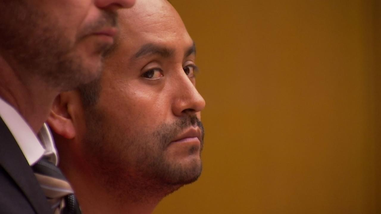 Thirty-seven-year-old Orlando Vilchez Lazo appears in court in San Francisco on Tuesday, July 17, 2018.