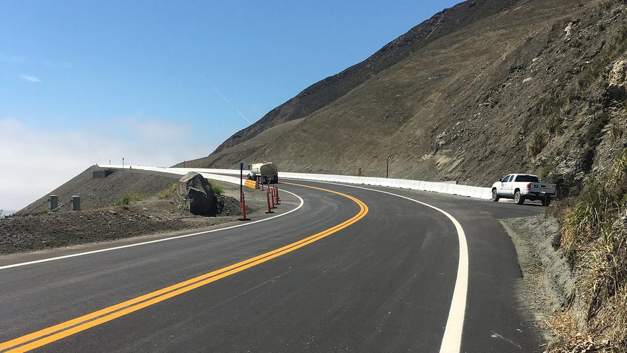 Highway 1 reopened near Big Sur, California on Wednesday, July 18, 2018.