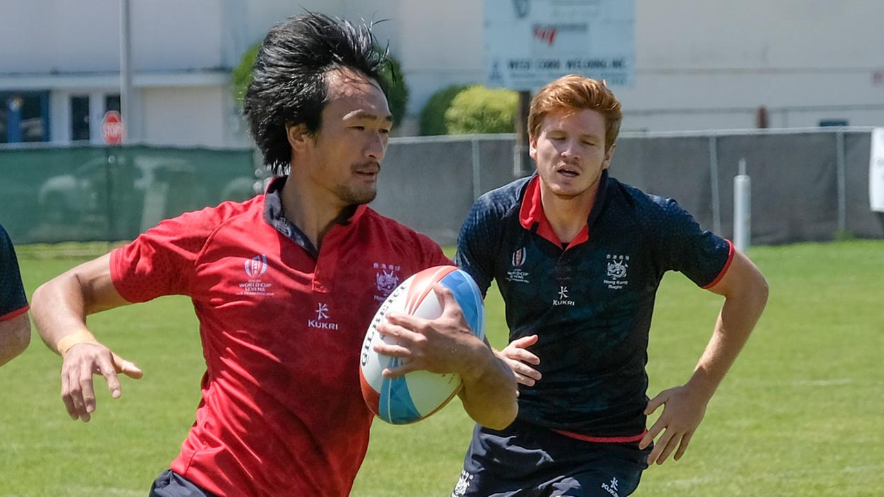 Rugby players in San Francisco on Thursday, July 19, 2018.