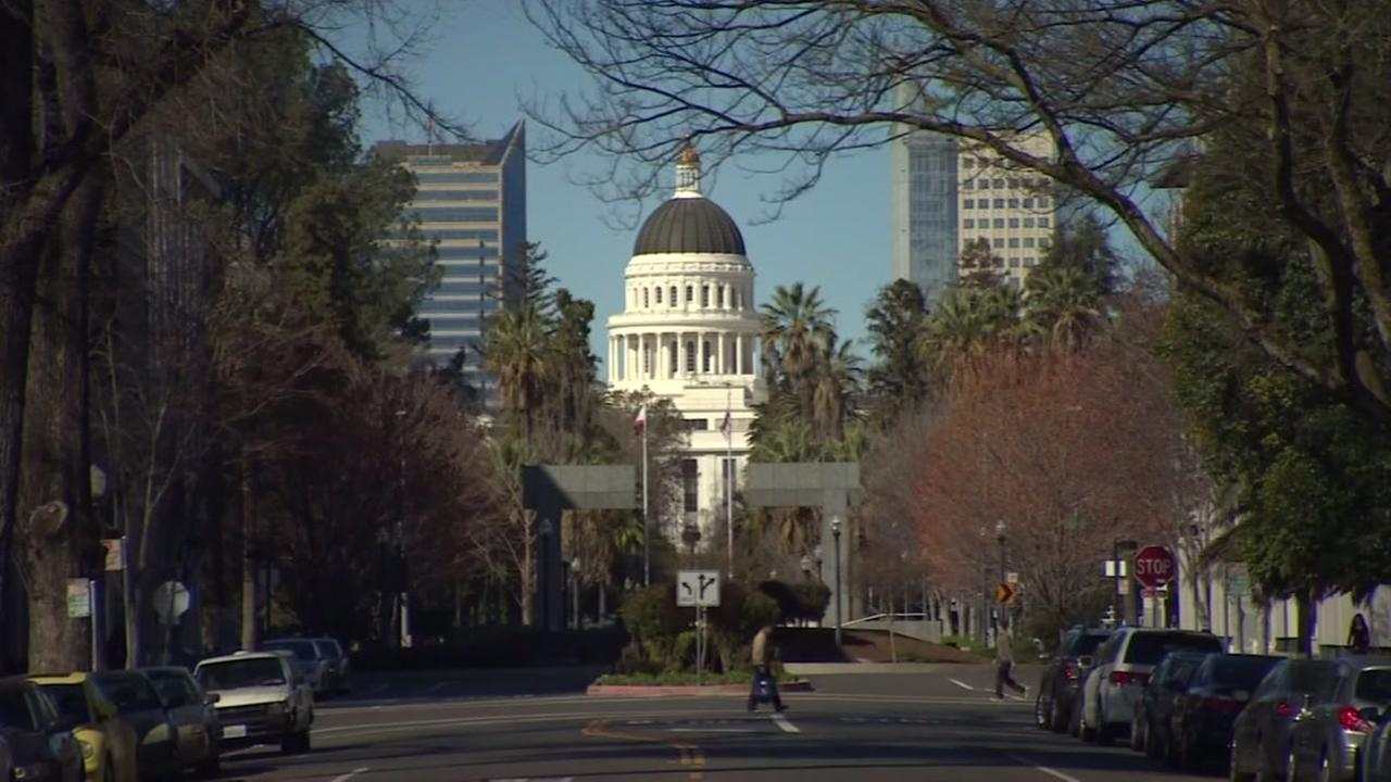 This is an undated image of the California state capitol in Sacramento.