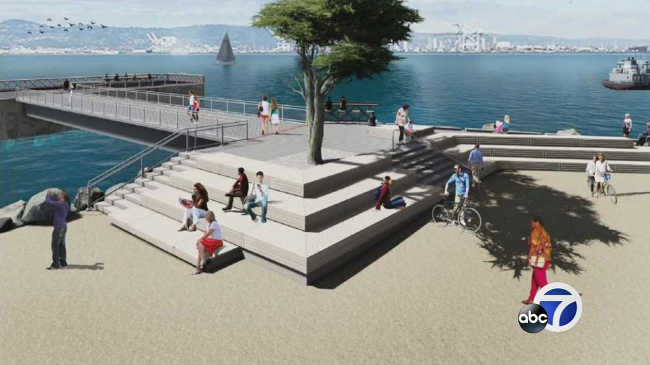 This concept art shows what the new Yerba Buena park will look like.