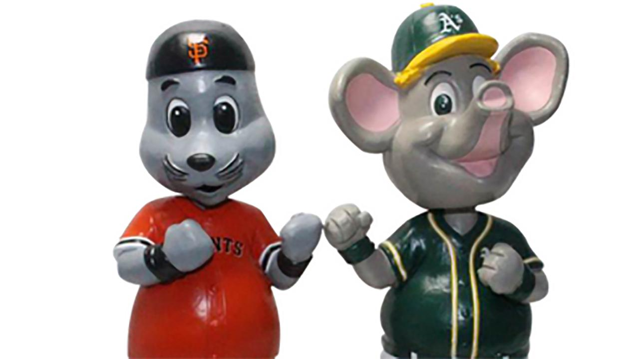 MLB Rivalry Bobbleheads available for Giants and A's fans