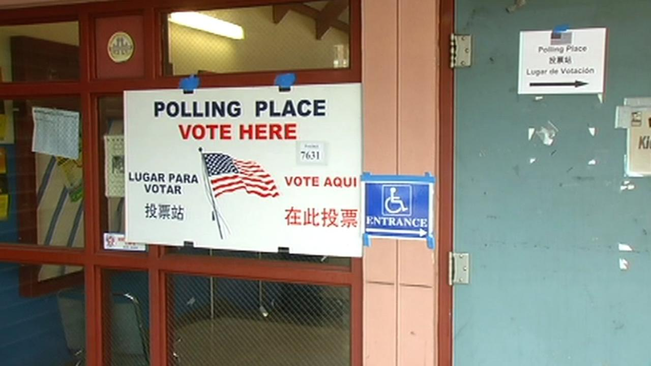 Polling place in the Bay Area.