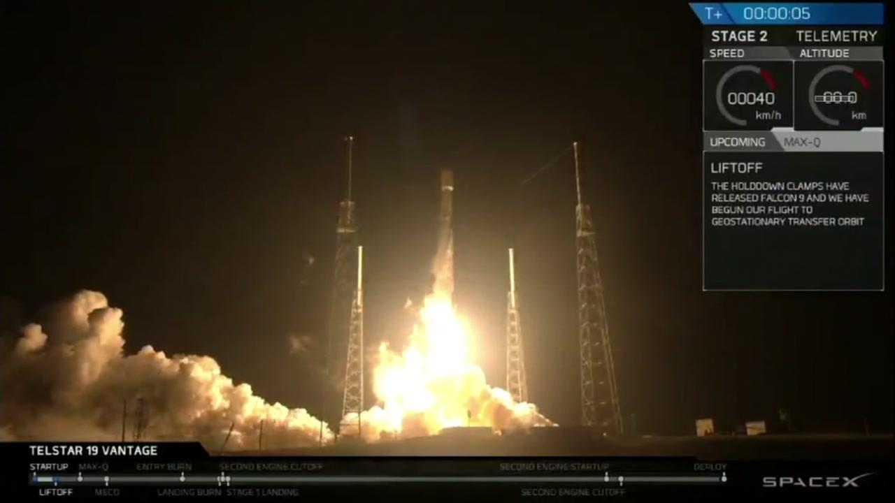 SpaceX launch in Florida on Saturday, July 22, 2018.
