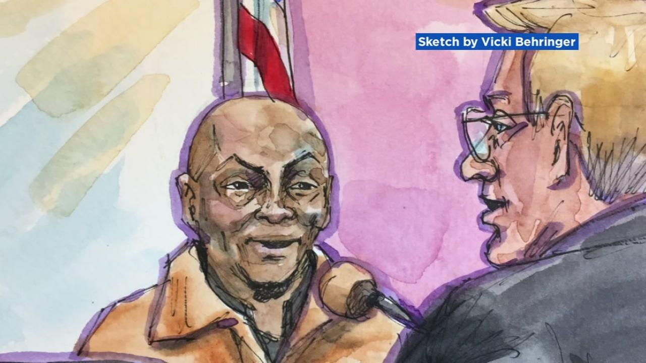 A courtroom sketch shows the Monsanto trial in San Francisco on Monday, July 23, 2018.