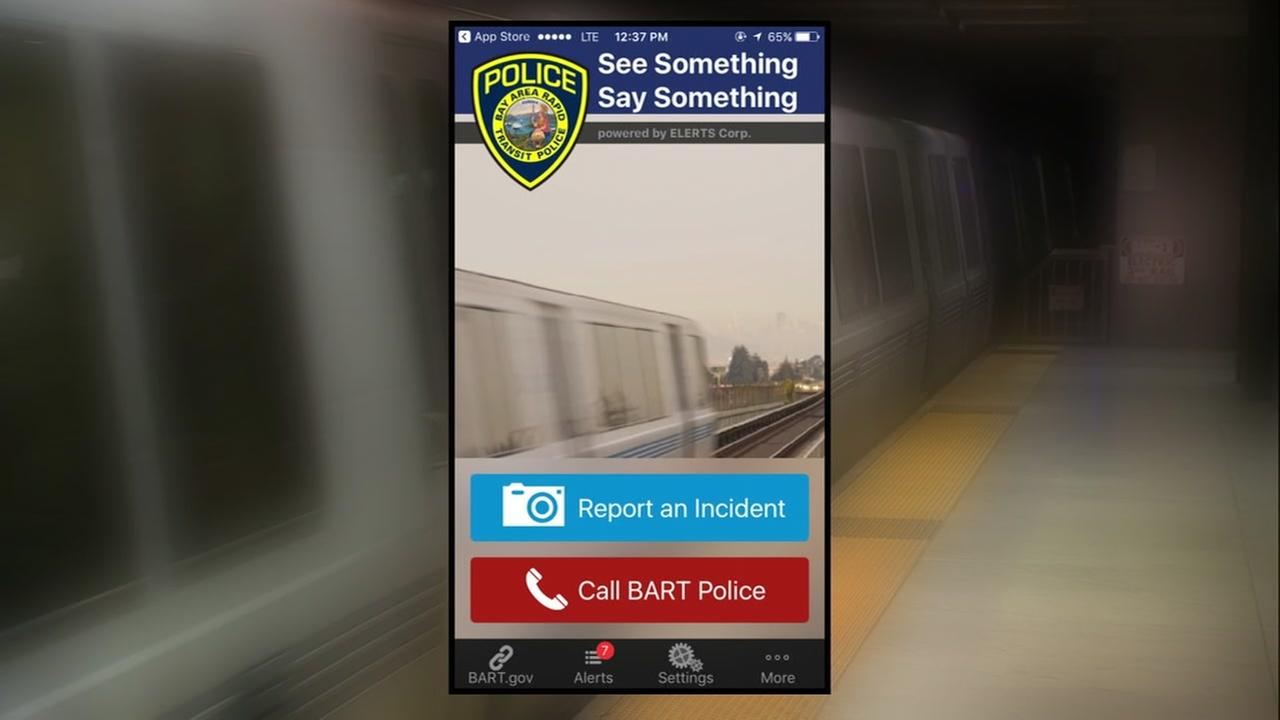 The BART Watch app is pictured in this undated file photo.