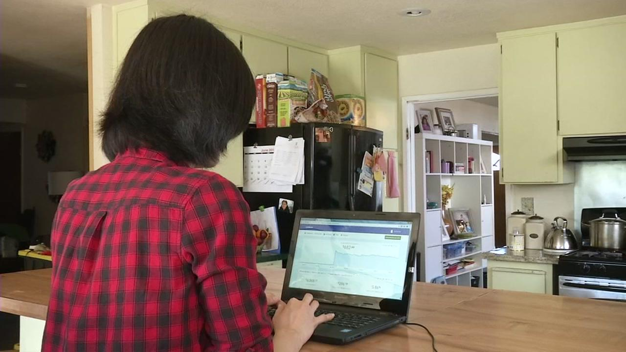A person types on a computer in this undated image.